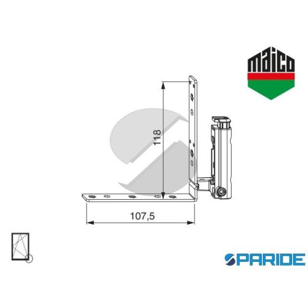 ANGOLO CERNIERA 4/15-9 SINISTRO 58605 MAICO AD INC...