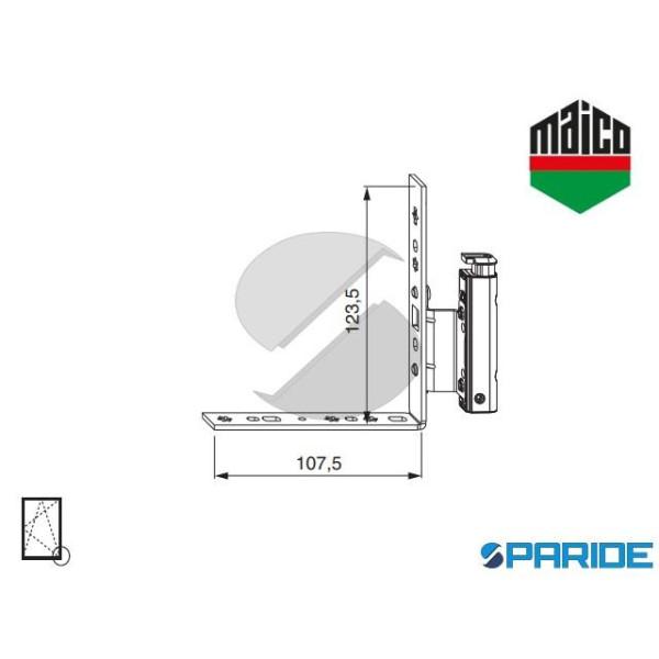 Angolo Cerniera Dt130 12 20 9 Destro 54688 Maico Porta Finestra Fissaggio Battuta