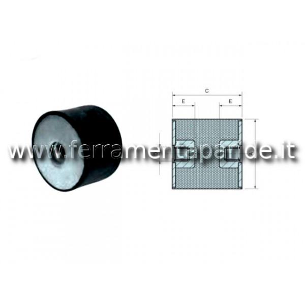 ANTIVIBRANTE ACFF 20X15 M6 D 25 MM L 15 MM CILINDR...