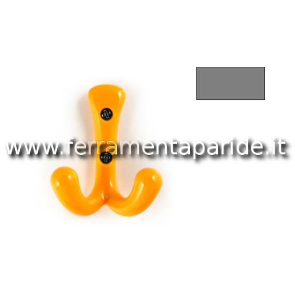 APPENDIABITI A PARET 5565 GRIGIO A DOPPIO GANCIO