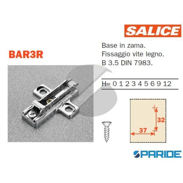 BASE REGOLABILE BAR3R09 H 0 CON CLIP SALICE