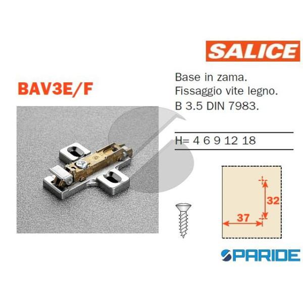 BASE REGOLABILE BAV3E\F H 0 CON CLIP SALICE