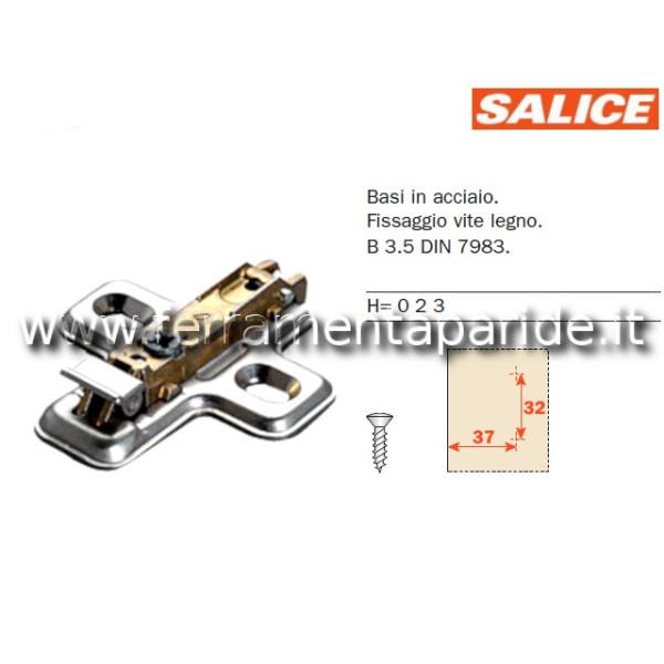BASE REGOLABILE BAV3L\F H 0 CON CLIP SALICE