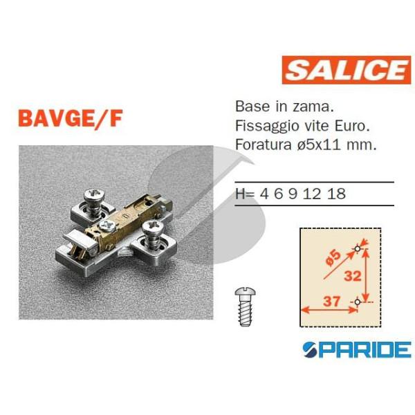 BASE REGOLABILE BAVGE\F H 3 CON CLIP SALICE