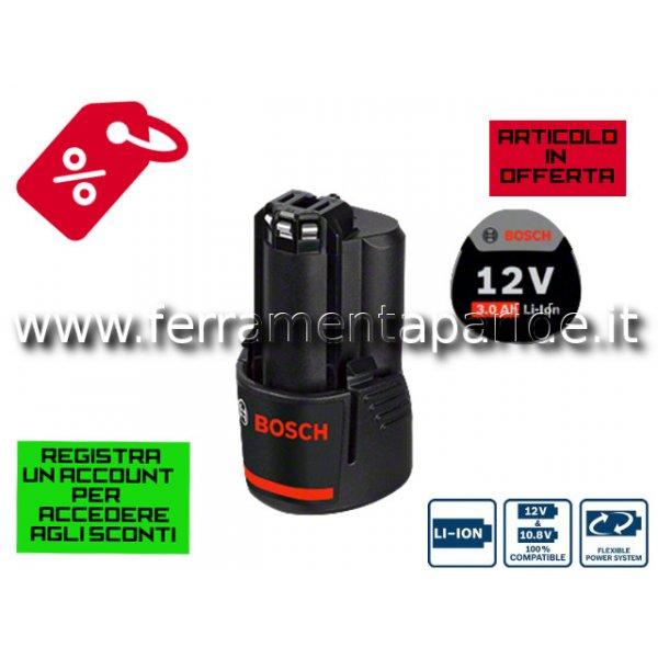 BATTERIA BOSCH GBA 12V 3.0 Ah 1600A00X79