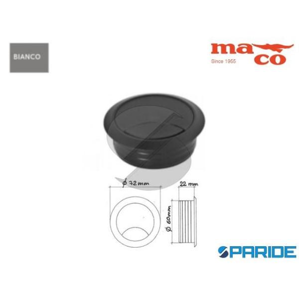 BOCCHETTA PASSACAVI D 60 MM BIANCO 0960 MACO