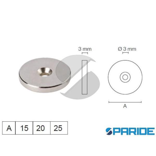 BOTTONE MAGNETICO 15X3 CON FORO SUD VAREC