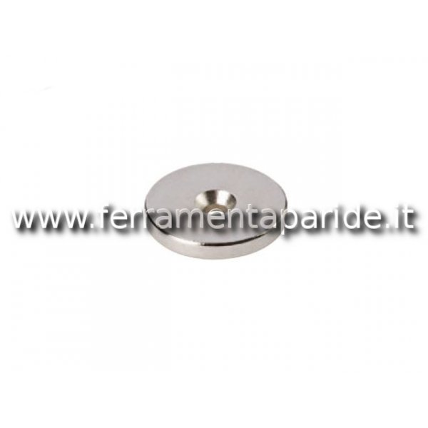 BOTTONE MAGNETICO 20X3 CON FORO NORD VAREC