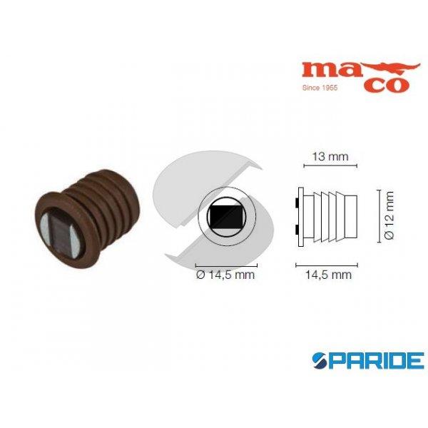 BOTTONE MAGNETICO D 12 MM 0637 MARRONE MACO