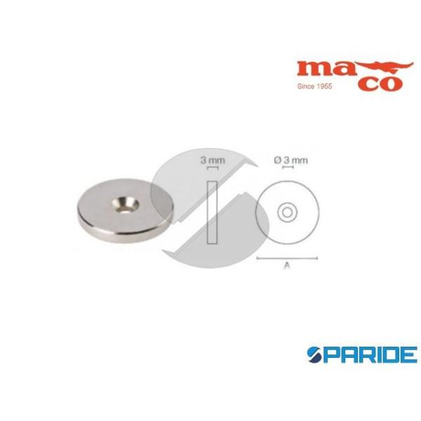 BOTTONE MAGNETICO D 25X3 NEODIMIO 0679 MACO