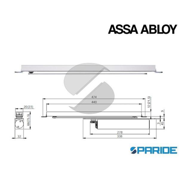 BRACCIO A SLITTA G893 ASSA ABLOY ARGENTO 31 MM