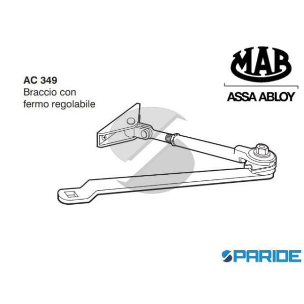 BRACCIO REGOLABILE AC349 REGOLABILE PER CHIUDIPORTA 200 MAB CON FERMO NERO