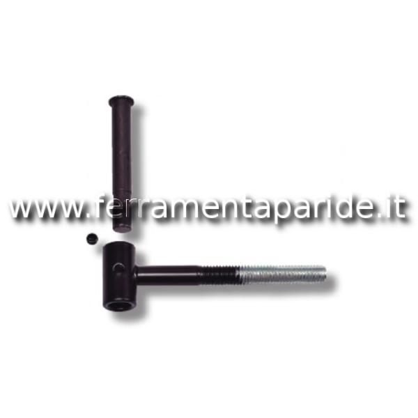 CARDINE AVVITARE SPINA LEVARE T10 CM9 NERO C/GRANO