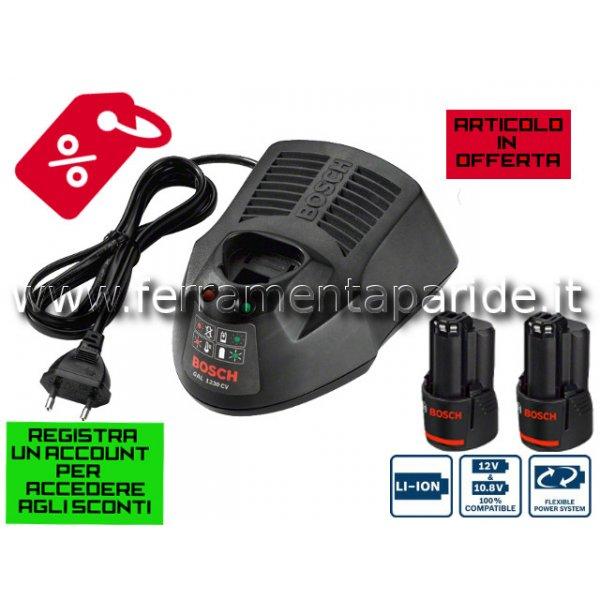 CARICA BATTERIE GAL1230 CV + GBA 12V 3.0 Ah BOSCH ...