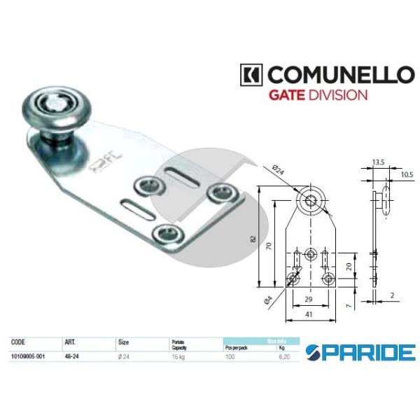 CARRELLO A 1 RUOTA 48-24 CON STAFFA COMUNELLO