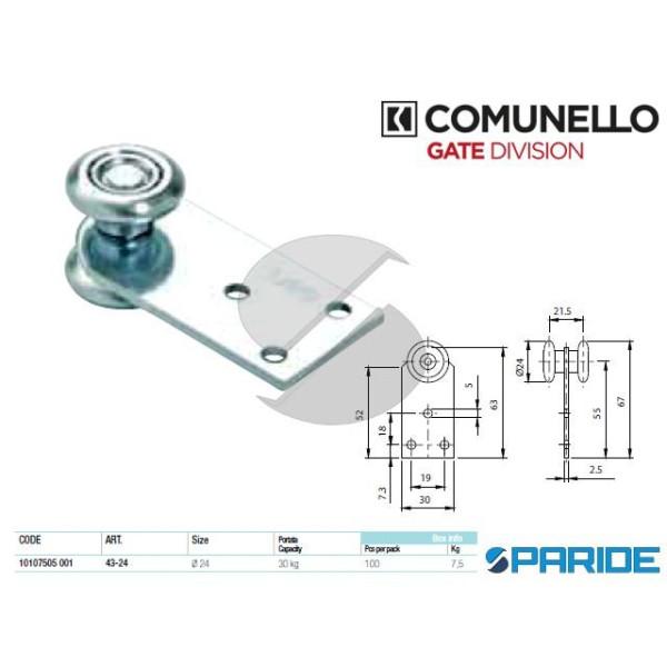 CARRELLO A 2 RUOTE 43-24 CON STAFFA COMUNELLO