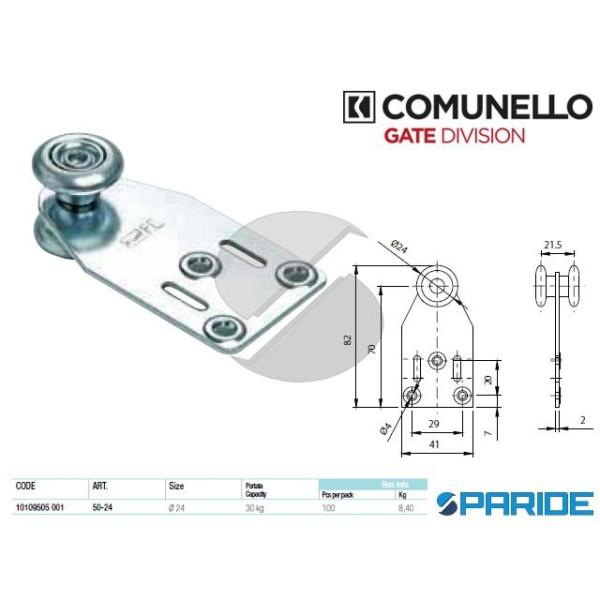 CARRELLO A 2 RUOTE 50-24 CON STAFFA COMUNELLO