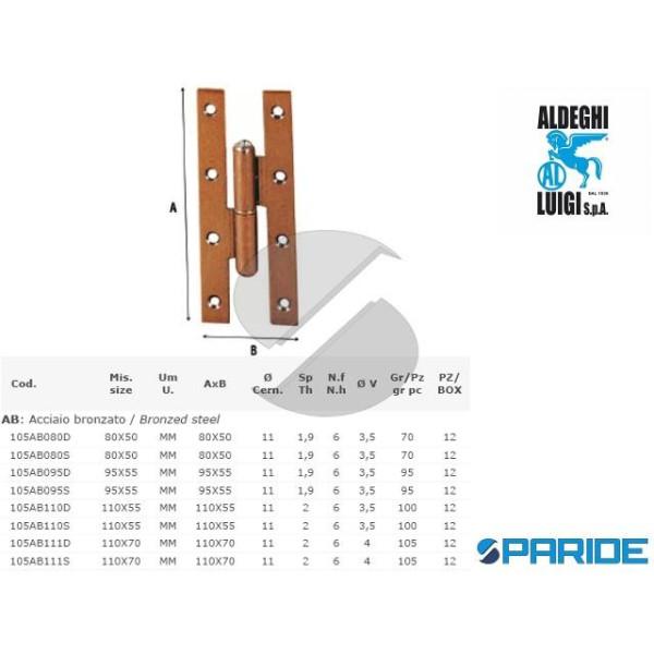 CERNIERA PAUMELLES 110X55 MM DESTRE 105AB110D ALDE...