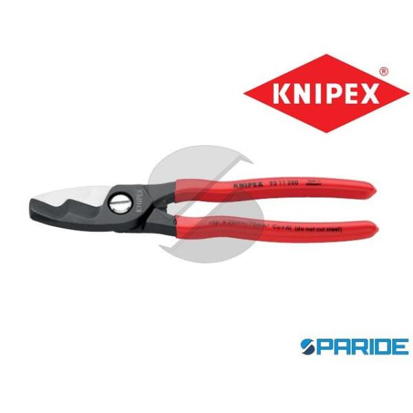 CESOIA PER CAVI 95 11 200 DOPPIO TAGLIENTE KNIPEX