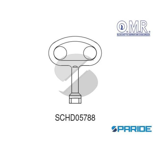 CHIAVE ZAMA OVALE IMPRONTA 3 SCHD05788 OMR