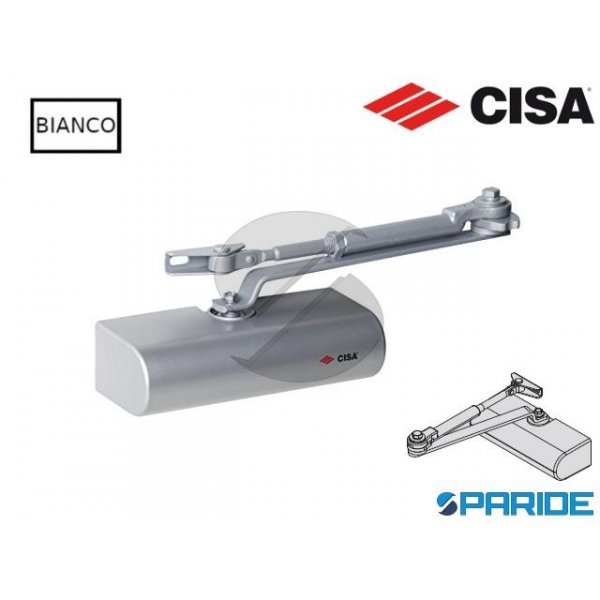CHIUDIPORTA AEREO C1416 CISA SMART PLUS 2 BIANCO C...