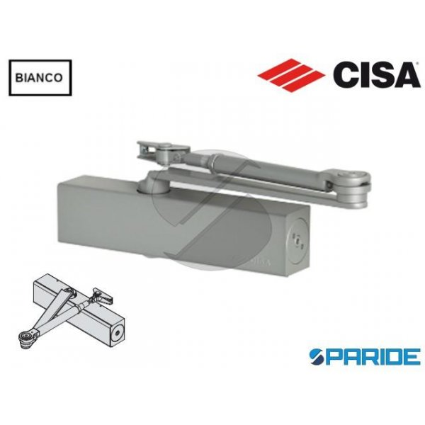 CHIUDIPORTA AEREO C1611 CISA BIANCO PROFESSIONAL P...