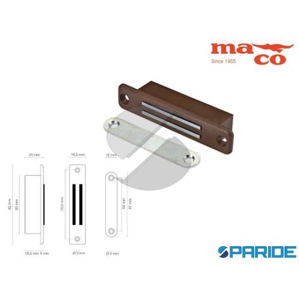 CHIUSURA MAGNETICA 82 MM 0650 MARRONE PER SPORTELL...