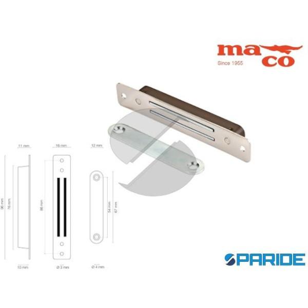 CHIUSURA MAGNETICA 96 MM 0656 OTTONE NICHELATO MAC...