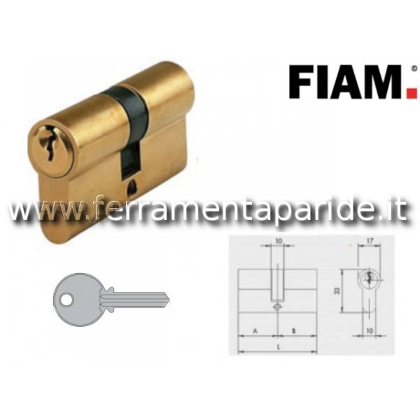 CILINDRO DOPPIO L 60 MM 60001 FIAM OTTONE 30 30