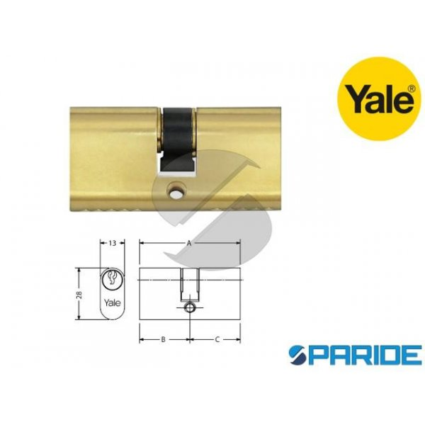 CILINDRO OVALE L 55 2608C55 YALE OTTONE 27,5 27,5 ...