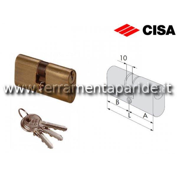 CILINDRO OVALE L 80 08210 18 OTTONE CISA  A=40 B=4...