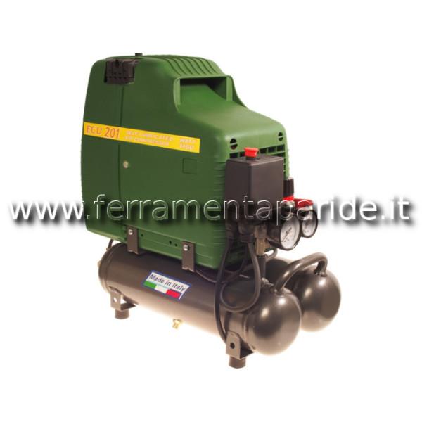 COMPRESSORE FIAC PORTATILE ECU 201 HP 1,5 230V 50H...