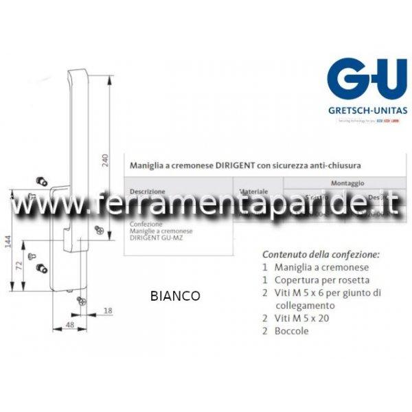 CONFEZIONE MANIGLIA DIRIGENT K-12920-00-R-7 DX BIA...