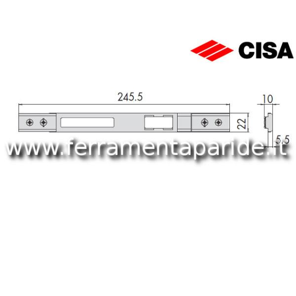 CONTROPIASTRA IN METALLO 06463 19 0 CISA NERA PER ...