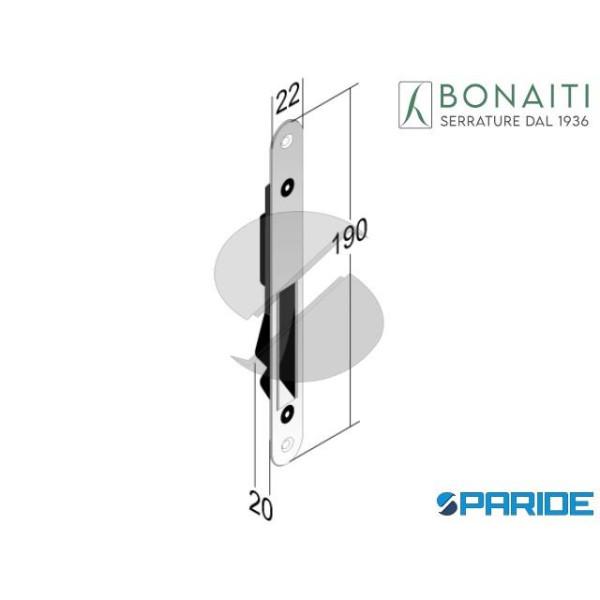 CONTROPIASTRA MAGNETICA 992 CROMO SATINATO F 22 BO...