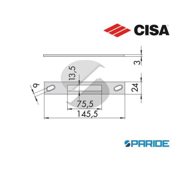 CONTROPIASTRA PIANA INOX 06461 34 0 CISA