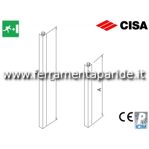 COPPIA ASTE VERTICALI 07081 16 CISA PER MANIGLIONE...