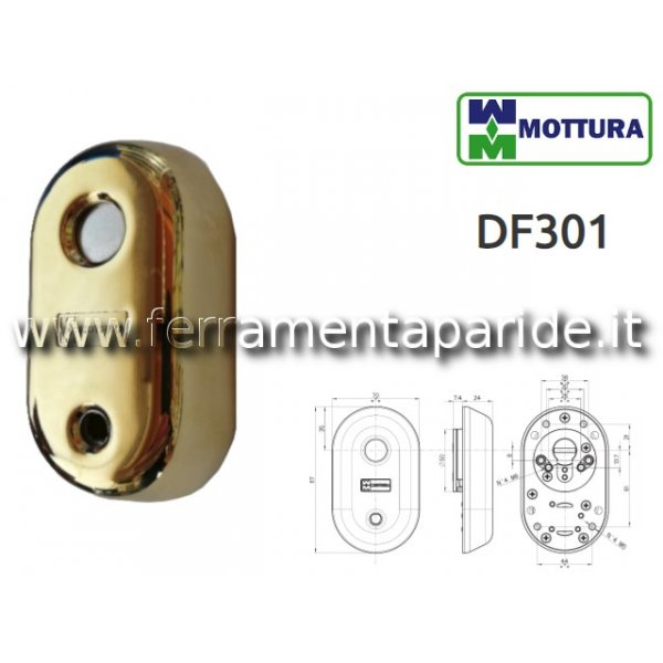 DEFENDER MAGNETICO DF301 MOTTURA PVD ORO LUCIDO DF...