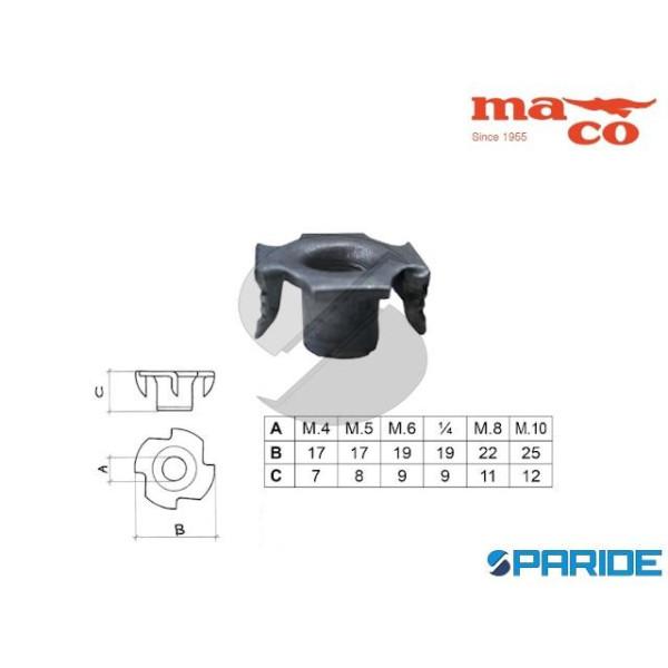 FONDELLO RAGNO A 4 PUNTE M8 ZINCATO 0261 MACO