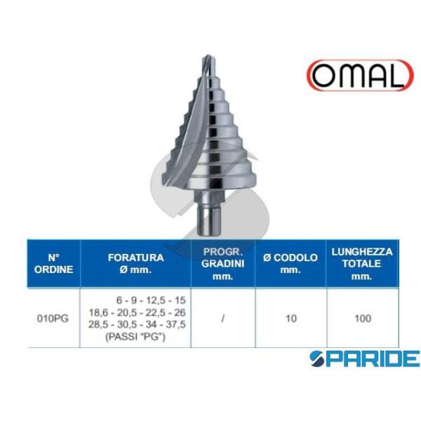 FRESA A GRADINI 6-37 MM 032 HSS 010PG OMAL
