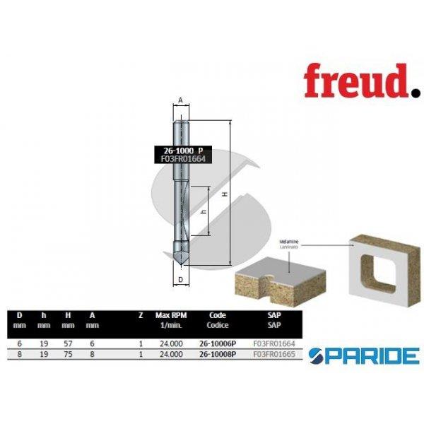 FRESA D 6 MM PER FORARE E RIFILARE 26-10006P LEGNO...
