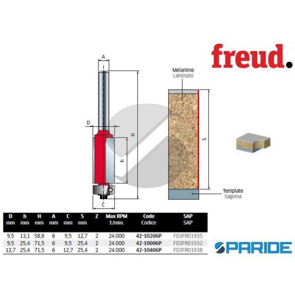 FRESA D 9,5 MM PER RIFILARE 42-10006P LEGNO FREUD