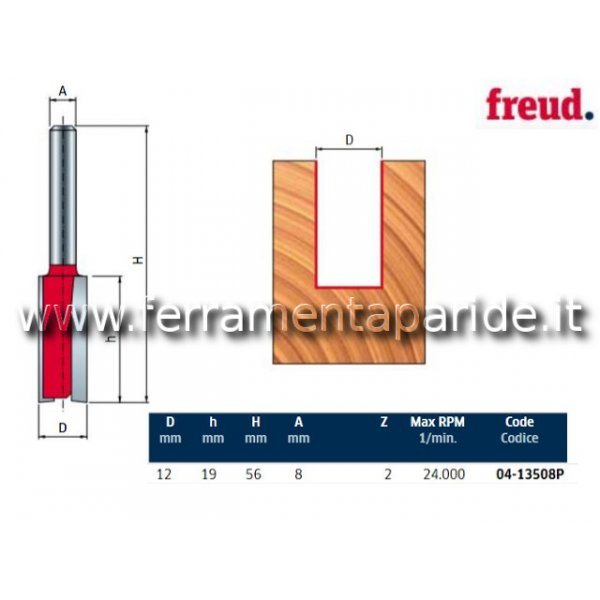 FRESA HM D 12 MM 04-13508 PER LEGNO FREUD