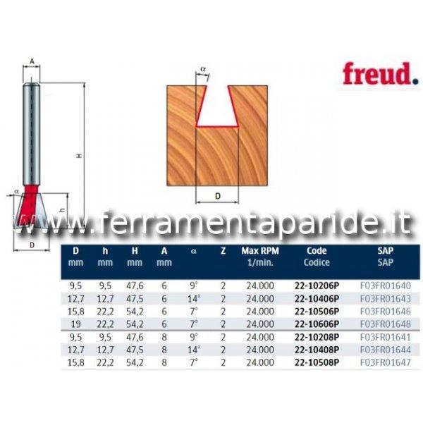 FRESA HM D 12,7 MM 22-10408 PER LEGNO FREUD