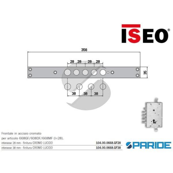 FRONTALE ACCIAIO CROMATO I38 104000668GF38 ISEO PE...