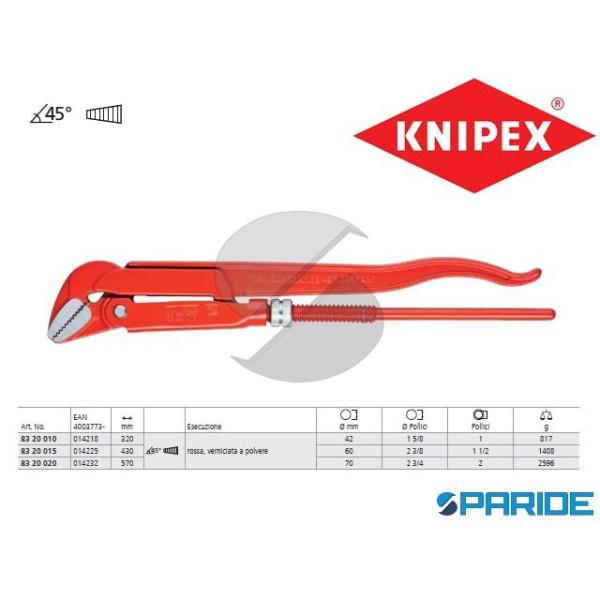 GIRATUBI CON GANASCE 83 20 015 45 GRADI KNIPEX