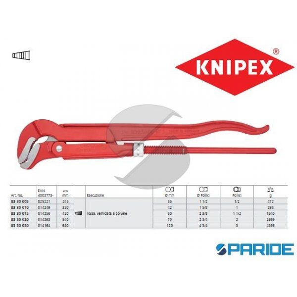 GIRATUBI CON GANASCE AD S 83 30 030 KNIPEX