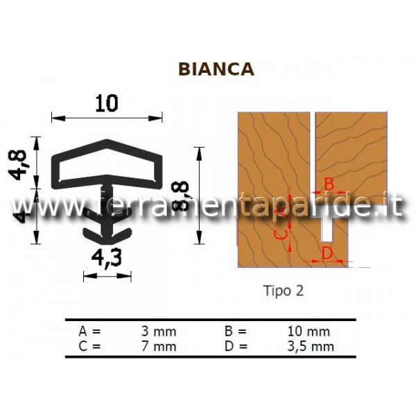 GUARNIZIONE A 106 AC BIANCA PER PORTE INTERNE IN L...