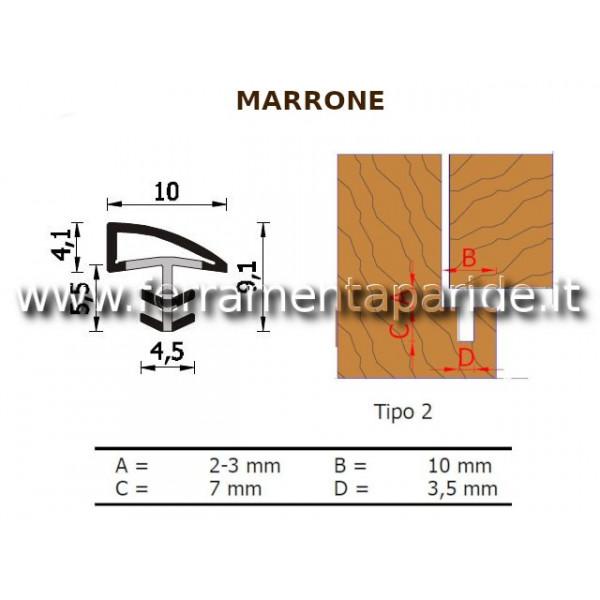 GUARNIZIONE A 107 K MARRONE PER PORTE INTERNE IN L...