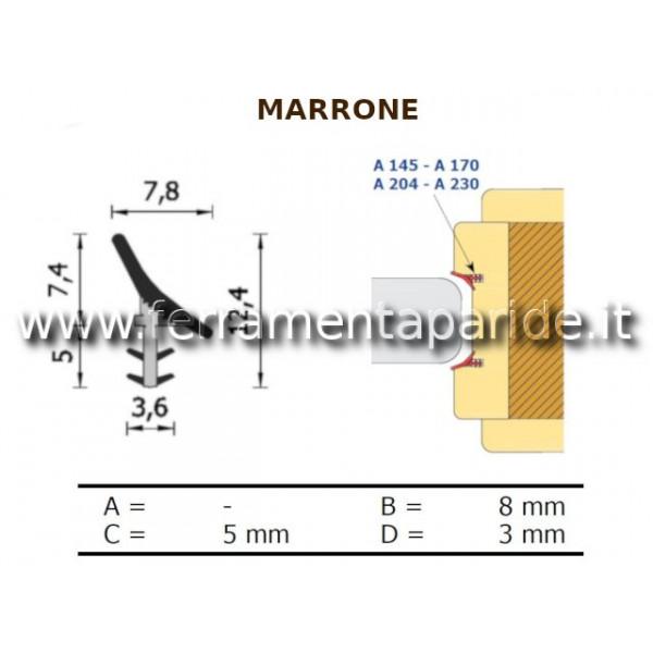 GUARNIZIONE A 145 K MARRONE PER PORTE SCORREVOLI I...